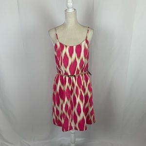 Kensie Printed A-Line Spaghetti Strap Dress